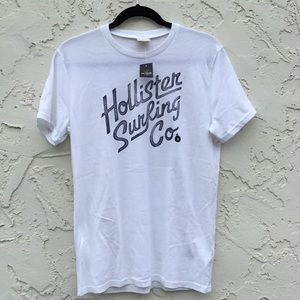 Hollister Mens White Top Size Medium T-Shirt